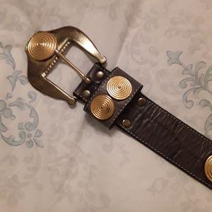 "Leatherock Genuine Leather Belt-Womens 32"""